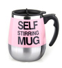 Godskitchen Self Stirring ABS Plastic & Stainless Steel 400 ML Round Mug (Colour May Vary)