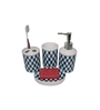 Gran Multicolour Ceramic Bath Accessories - Set of 4