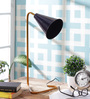Grated Ginger Blue Iron Study Lamp