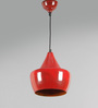 Grated Ginger Red Metal Pendant