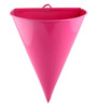 Green Gardenia Pink Metal Half Cone Wall Planter