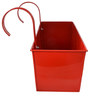 Green Girgit Handpainted Rectangle Planter in Red Colour