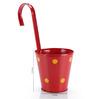 Green Girgit Red Polka Dots Railing Planter Pot