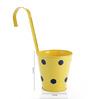 Green Girgit Yellow Polka Dots Railing Planter Pot