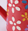 Green Girgit Red Metal Floral Hand-Painted Water Can