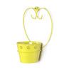 Green Girgit Yellow Metal Single Wall Mounted Planter