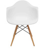 Gregor Accent Chair in White Colour by Starshine
