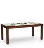 Gresham-Capra Six Seater Dining Table Set in Mahogany Finish by The ArmChair