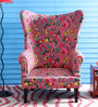 Iggy Wing Chair in Multi-Color Finish by Bohemiana