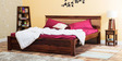 Olney King Bed in Provincial Teak Finish by Woodsworth