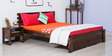 Woodinville Queen Bed in Provincial Teak Finish by Woodsworth