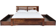 Woodinville Queen Bed with Storage in Provincial Teak Finish by Woodsworth