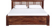 Lynden Slatted King Size Bed in Provincial Teak Finish by Woodsworth
