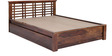 Lynden Slatted King with Storage in Provincial Teak Finish by Woodsworth
