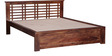 Lynden Slatted Queen Size Bed in Provincial Teak Finish by Woodsworth
