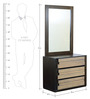 Elicia Dresser-Mirror Set in Tropicana Walnut & Belgian Oak Finish by CasaCraft
