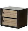 Elicia Night Stand in Tropicana Walnut & Belgian Oak Finish by CasaCraft
