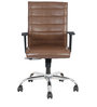 Hampy High Back Office Chair in Brown Colour by The Furniture Store