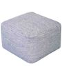 Hand Made Blue Wool Muse Pouffe by Rugs2Clear