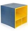 Hand Painted Blue & Yellow Colour Storage Box cum Shelf by VarEesha