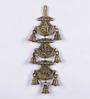 Handecor Ganeshaya Namah Brown Brass Hanging Bell