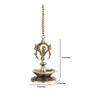 Handecor Brown Brass Dancing Ganesha Hanging Bronze Statue