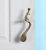 Handecor Copper Designer Peacock Door Handle Pair