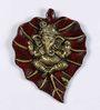 Devendrashika Leaf Ganesh Idol in Multicolor by Mudramark