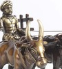 Ages Bullock Cart Figurine in Multicolor by Amberville