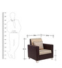 Harbour One Seater Sofa in Brown with Jute Colour by ARRA