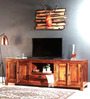 Belmont Entertainment Unit in Honey Oak Finish by Woodsworth