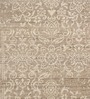 HDP Beige & Ivory Wool 80 x 56 Inch Indian Hand Made Knotted Carpet
