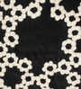 Andalusia Carpet in Black and White by CasaCraft