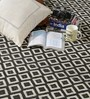 HDP Black & White Wool 80 x 56 Inch Hand Woven Flat Weave Area Rug