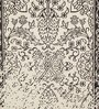 HDP Black & White Wool 80 x 56 Inch Indian Hand Made Knotted Carpet