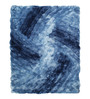 HDP Blue Polyester 65 x 92 Inch Carpet