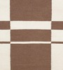 HDP Brown & White Wool 80 x 56 Inch Hand Made Flat Weave Kilim Carpet