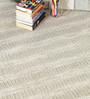 HDP Brown Wool 80 x 56 Inch Hand Made Flat Weave Carpet
