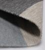 HDP Grey & Sky Blue Wool 80 x 56 Inch Hand Made Flat Weave Kilim Carpet
