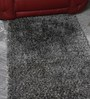 HDP Grey & White Wool & Polyester 59 x 36 Inch Hand Tufted Pebble Carpet
