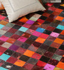 HDP Multicolour Leather 72 x 48 Inch Hand Made Carpet