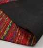 HDP Multicolour Recycled Saree Silk & Wool 80 x 56 Inch Hand Woven Flat Weave Carpet