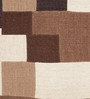 HDP Multicolour Wool 80 x 56 Inch Hand Woven Patchwork Carpet