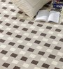 HDP Silver & Black Wool 80 x 56 Inch Indian Hand Tufted Carpet