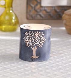 Height Of Designs White Iron Mango Tree Candle Votive - Set Of 2