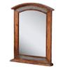 Heera Hastkala Brown Mango Wood Curved Top Honey Finish Framed Mirror