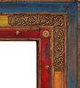 Heera Hastkala Multicolour Metal & MDF Framed Decorative Mirror