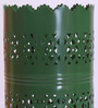 Height of Designs Green Iron Vertical Cutwork Table Lamp