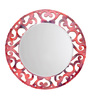 Height of Designs Multicolour Engineered Wood Floral Mirror