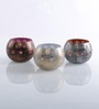 Height of Designs Multicolour Iron Om Candle Votive - Set of 3